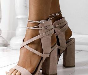 Suede Lace-Up Block ..
