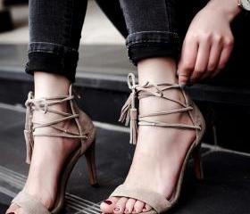 Suede Ankle Lace Up ..