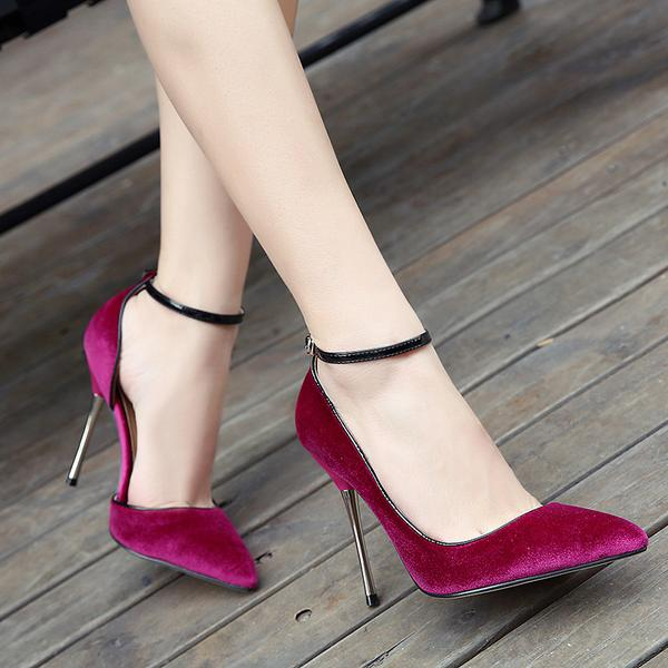 dedd4281b6d Suede Pointed Toe Ankle Strap Stiletto High Heels on Luulla