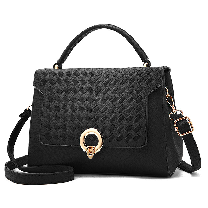 Casual Embroidery Solid Color Metal Decoration Women Satchel
