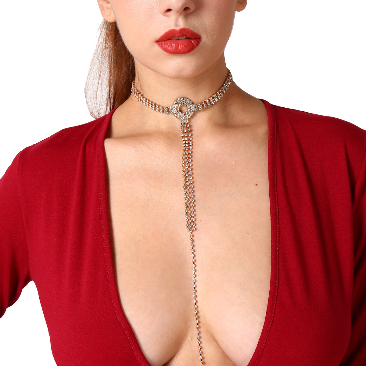 Sexy Multilayer Set Auger Long Tassels Sweater Necklace