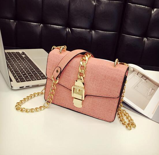 Belt Decorated PU Women Crossbody Bag
