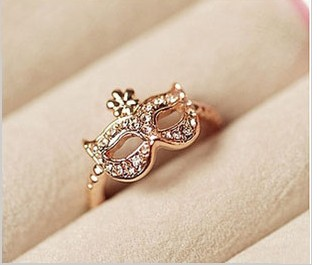 Ring Bohemia Fox Rhinestone Gold