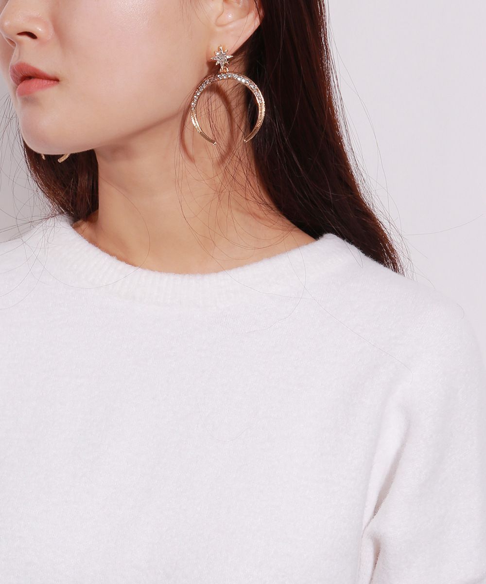 Star Moon Couple Temperament Earrings