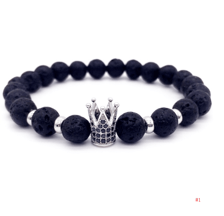 Volcanic Stone Covered With CZ Imperial Bracelets