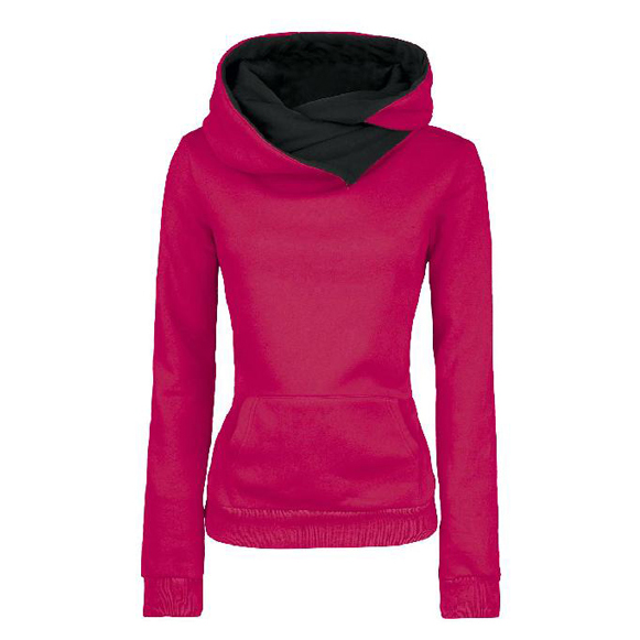 Long Sleeves High Neck Hoodies