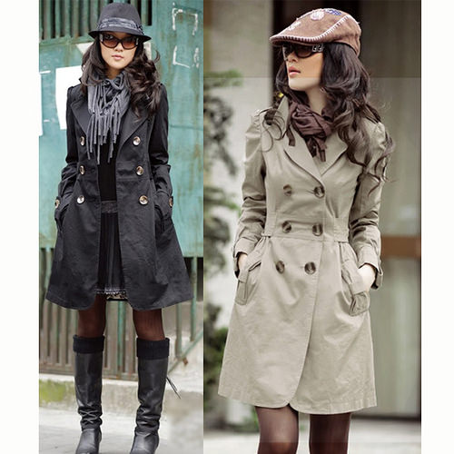 Slim Fit Trench Double-breasted Coat