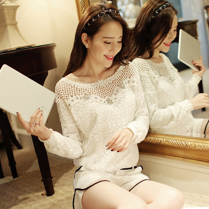 Embroidery Lace Crochet Tee Blouse