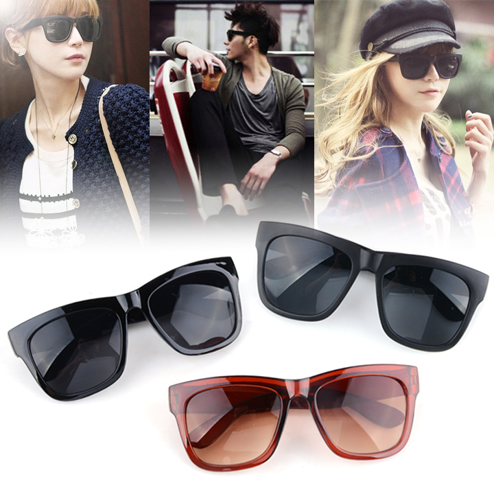 Cool Black Glasses Unisex Eyeglasses