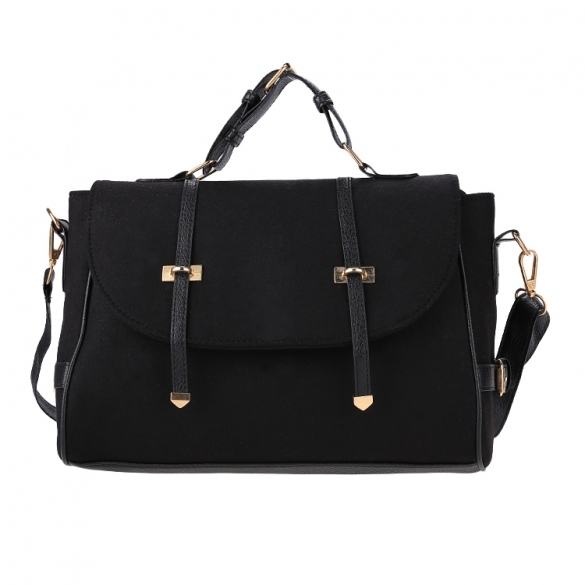 Hot Fashion Women Fleece Handbag Satchel Hasp Closure Casual Party Business Medium Shoulder Bag