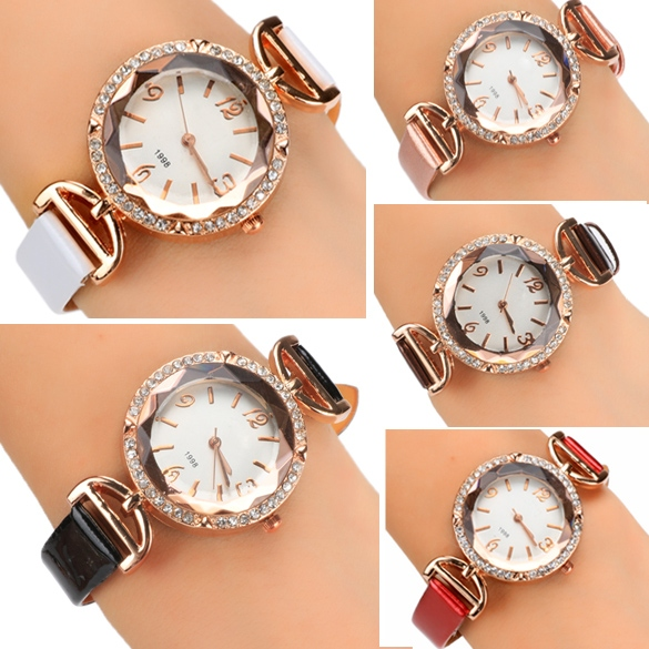 Women Hot Fashion Charming Wrist Watch Rhinestone Analog Quartz Watch