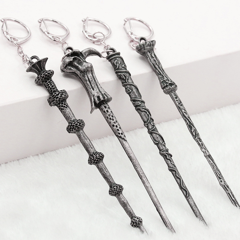 Alloy Ornament Magic Wand Key Ring