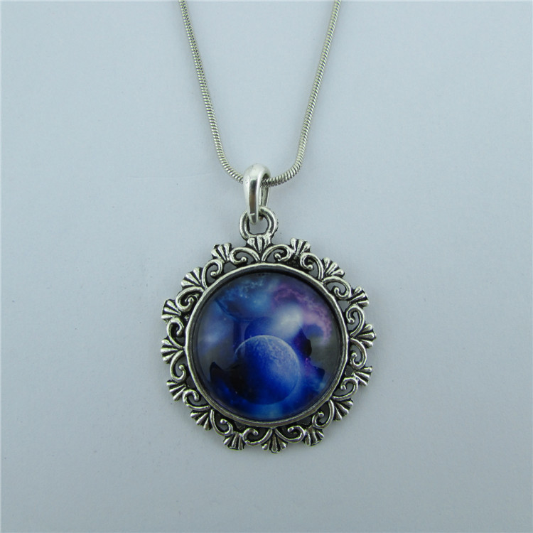 Silent Night Starry Sky Pendant Necklace