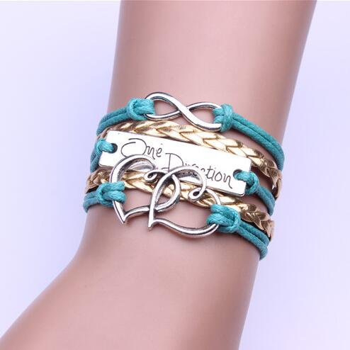 Romantic Double Heart Multilayer Woven Bracelet