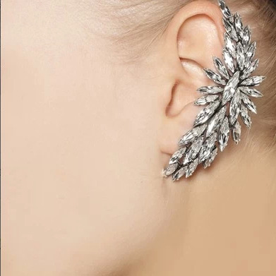 Luxury Crystal Leaves Earrings