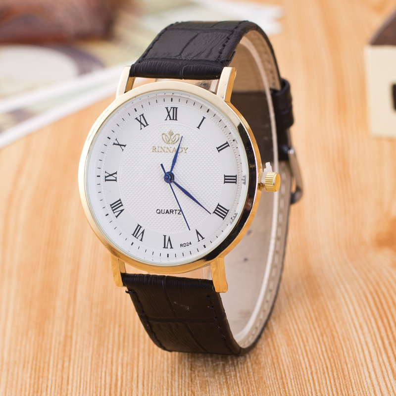 Roman Number Casual Leather Watch