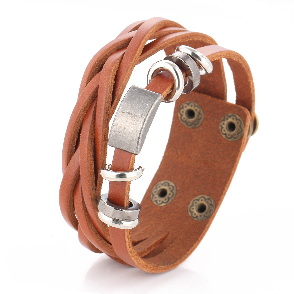 Personality Braided Leather Bracelet