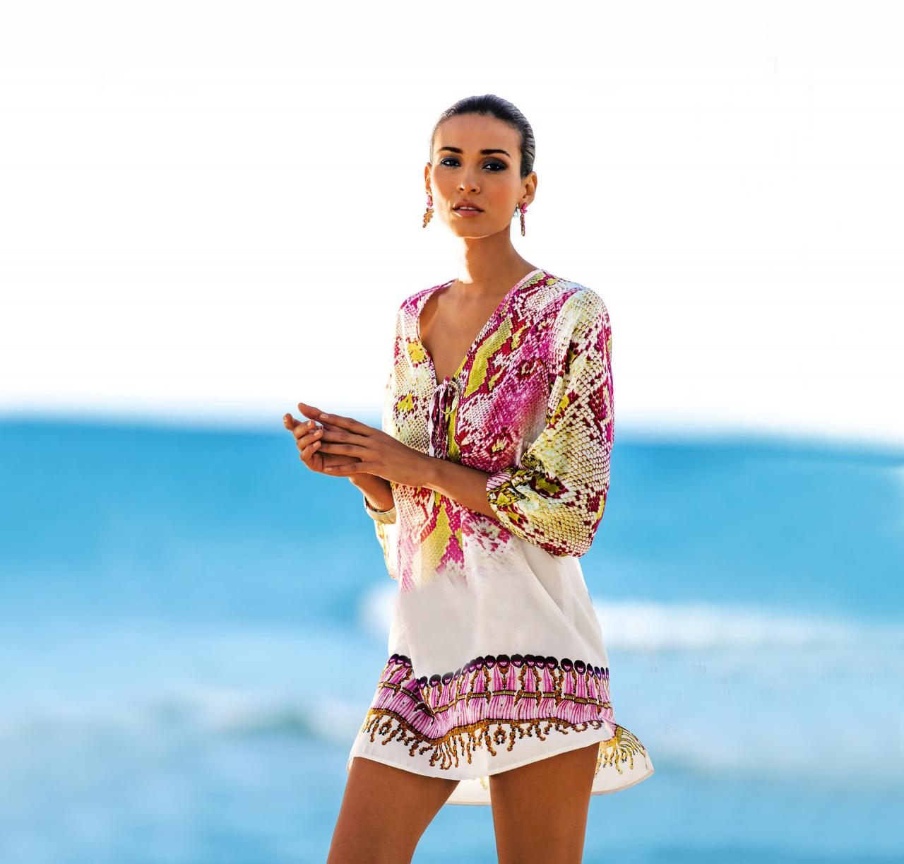 New Serpentine Chiffon Beach Bikini Cover Up