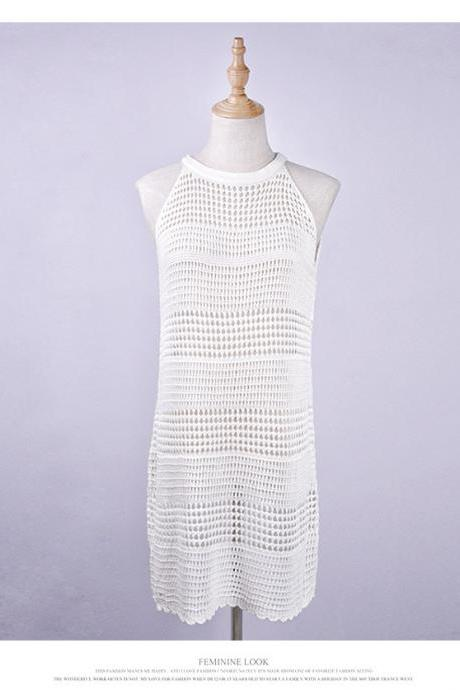 Selling Hollow Out Knitting Beach Cover Ups