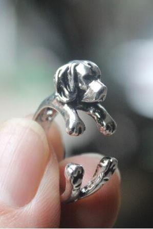 Dog Animal Ring Jewellery - Silver / Black / Bronze