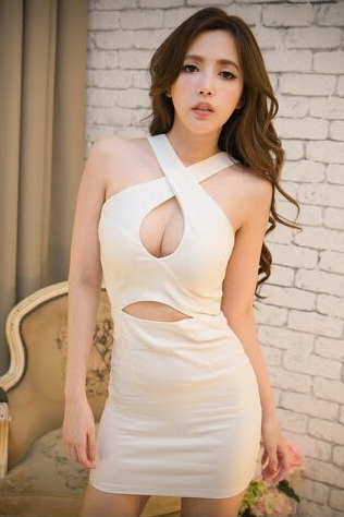 Fashion Sexy Pure Color Sleeveless Bodycon Dress