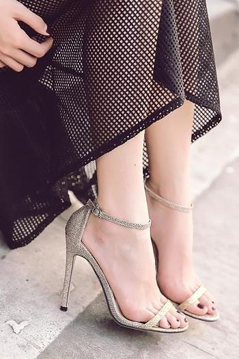 Open-Toe Thin Ankle Strap Stiletto Heels, High Heels, Party Shoes