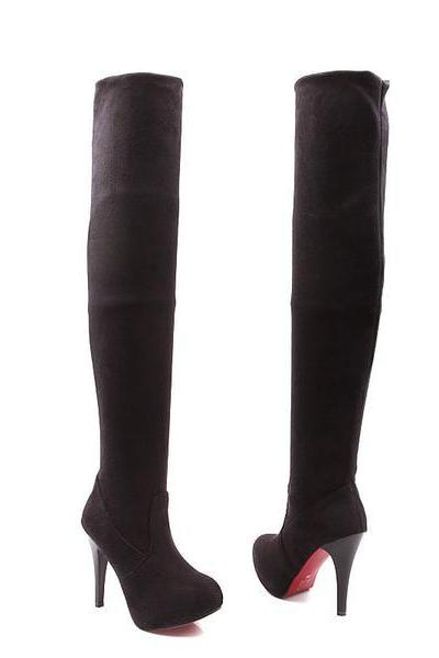Platform Inside Stiletto High Heels Over-knee Long Boots