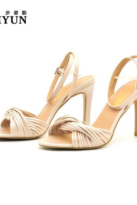 Open Toe Ankle Wrap Stiletto High Heels Sandals
