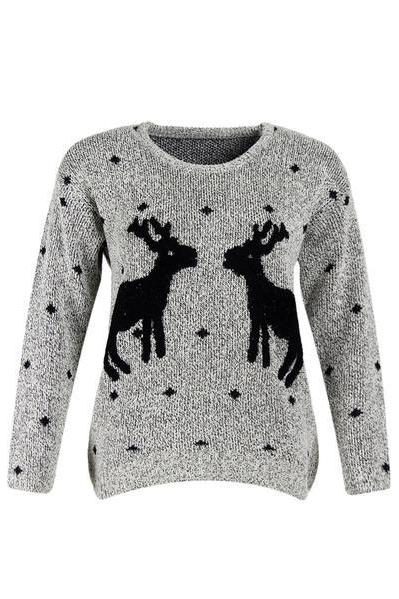 Knitted Reindeer Pullover / Sweater