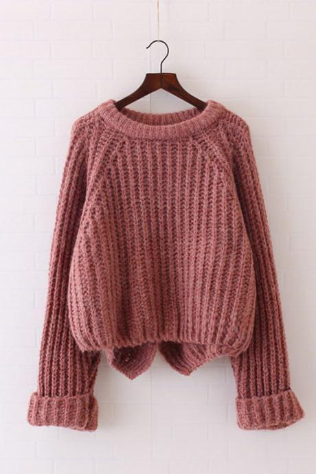 Long Sleeve Knitted Sweater / Pullover