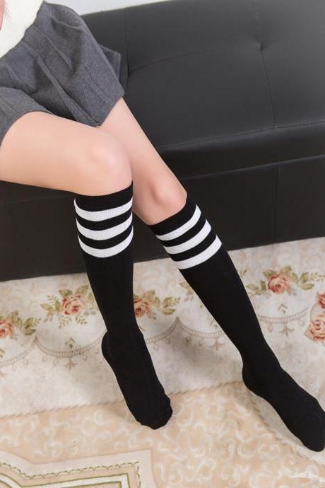 Over the Knee Thinner Cotton Socks