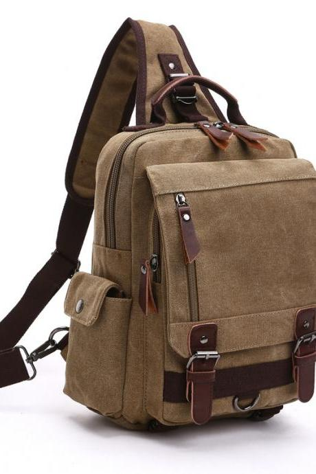 Canvas Soft Durable Men Single shoulder Bag