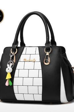 Korean Style Color Block Women Satchel