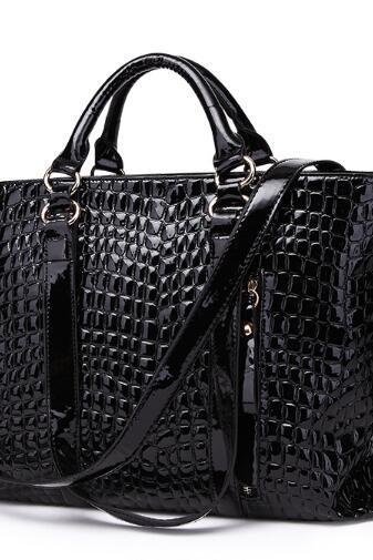 Fashion Croco-Embossed Women Handbag