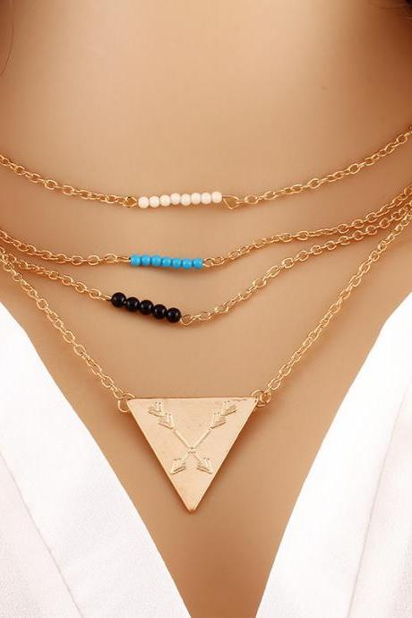 Fashion Temperament Of Bead Necklace