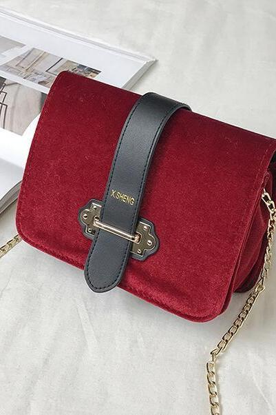 Color Block Nylon Mini Crossbody Bag