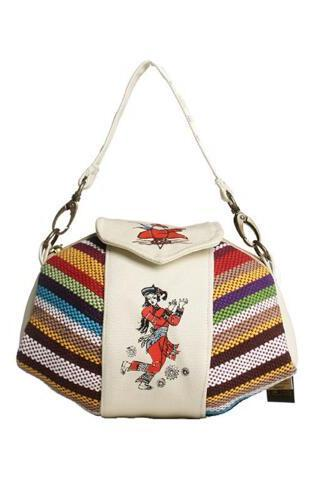 Minority Style Stripe Canvas Crossbody Bag