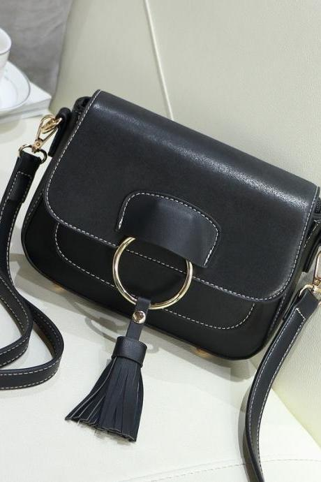 Grind Arenaceous Clamshell Tassel Crossbody Bag