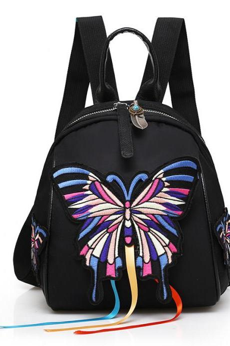 Ethnic Style Embroidery Zipper Backpack