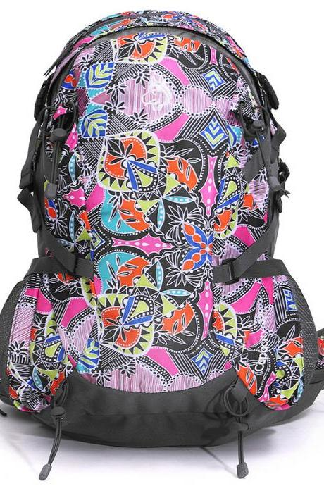 Colorful Patchwork Zipper Backpack