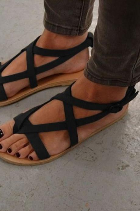 Rome Slip-on Straps Flat Casual Sandals