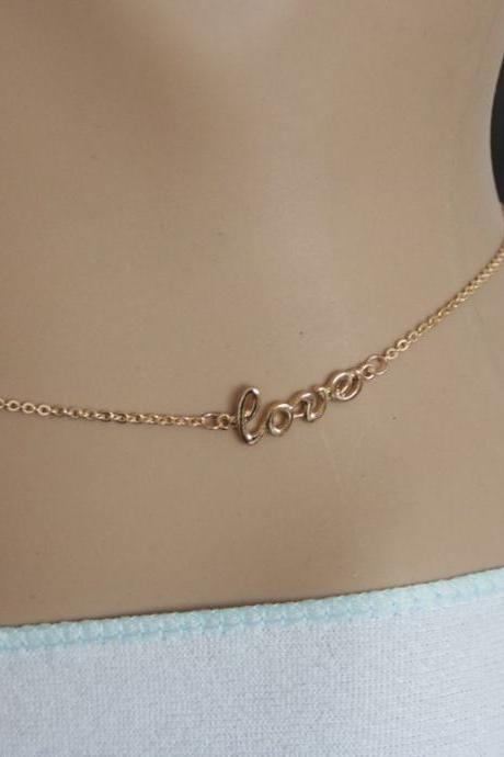 Fashion Alloy Love Letter Body Chain