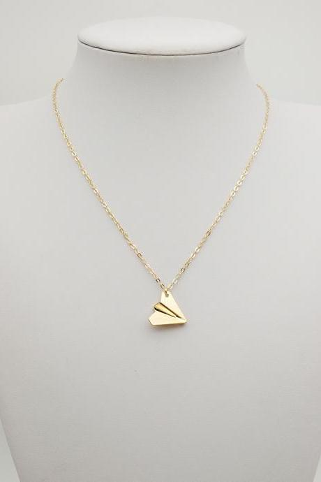 One Direction Paper Airplane Necklace