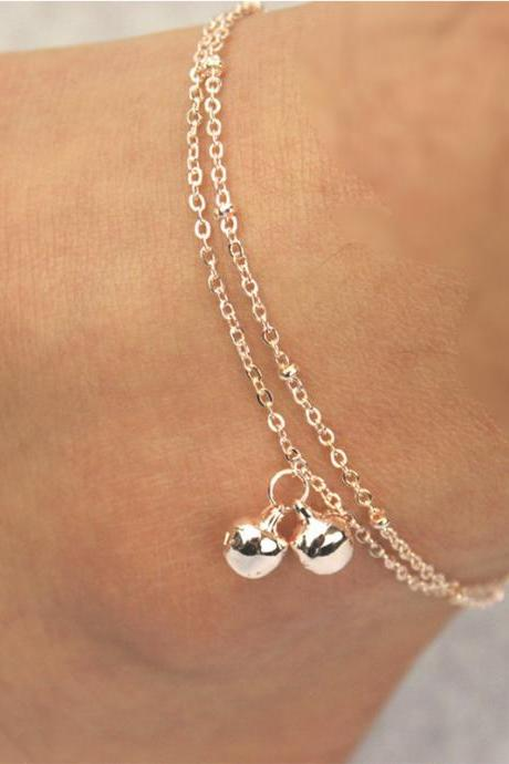 Fashion Personality Bell Double Anklets