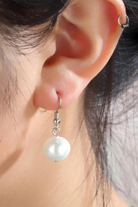 Retro Girls Fashion Sweet Pearl Earrings