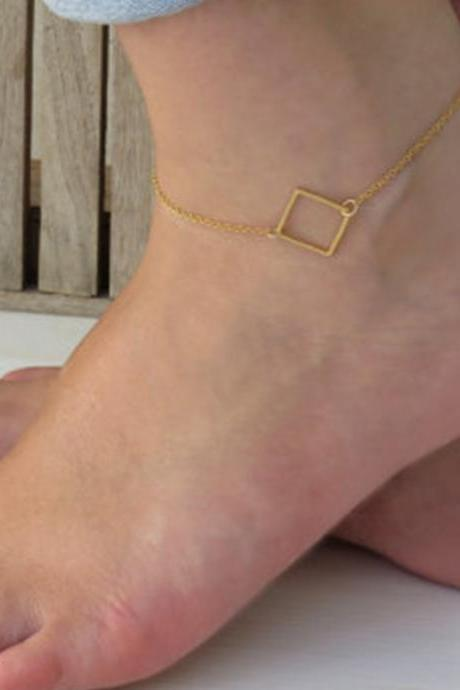 Classic Simple Square Hollow Anklets