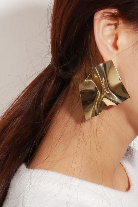 Geometric Irregular Mirror Temperament Earrings