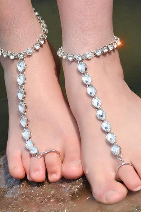 Exaggerated Personality Metal Texture Anklets