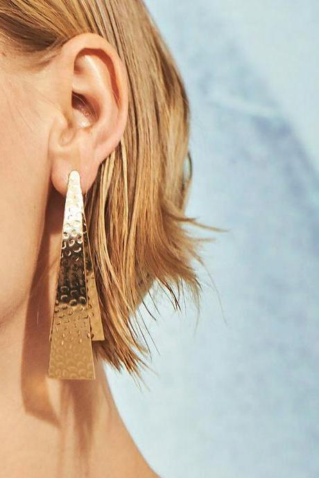 Stylish Simple Geometric Metal Earrings