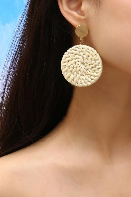 Fashion Simple Straw Vine Earrings